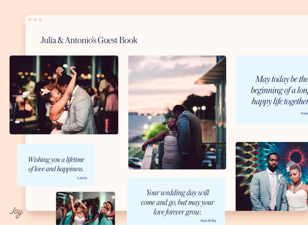Virtual guest book