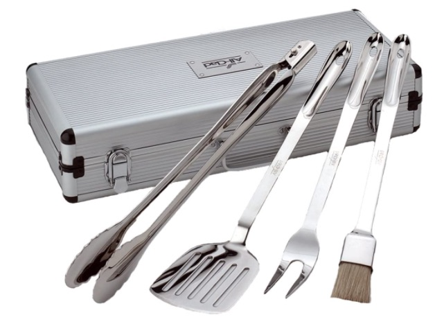 All-Clad Stainless Steel BBQ Tool 4-Piece Cookware Set