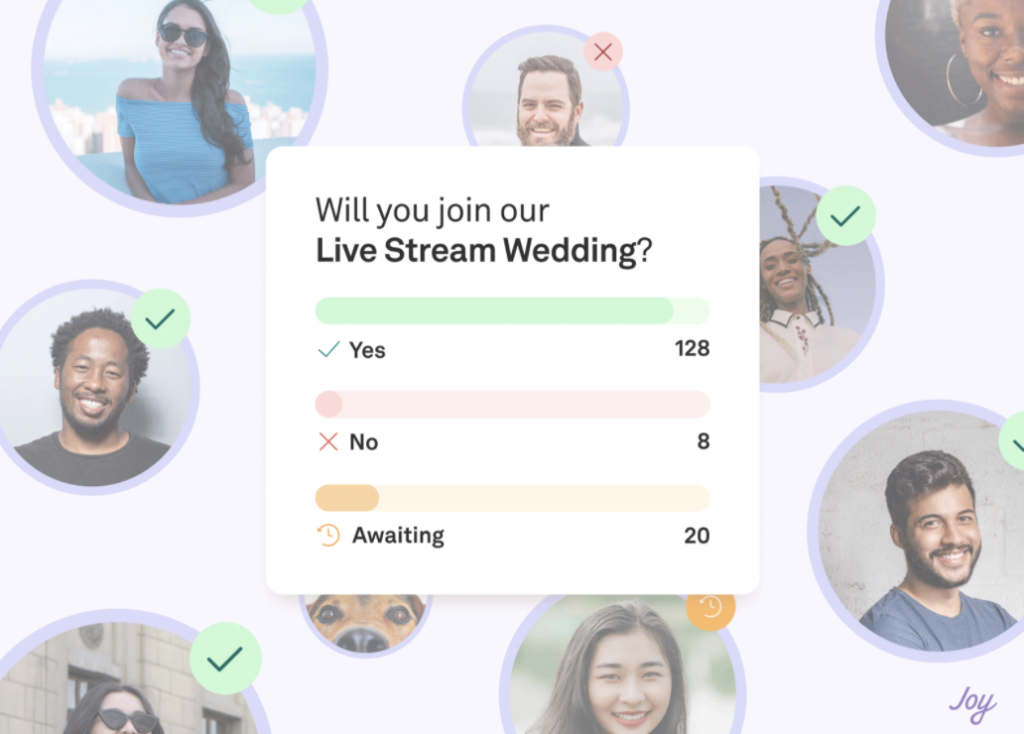 Virtual wedding RSVPs