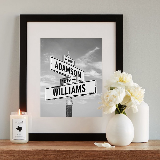 Uncommon Goods Intersection of Love - Photo Print