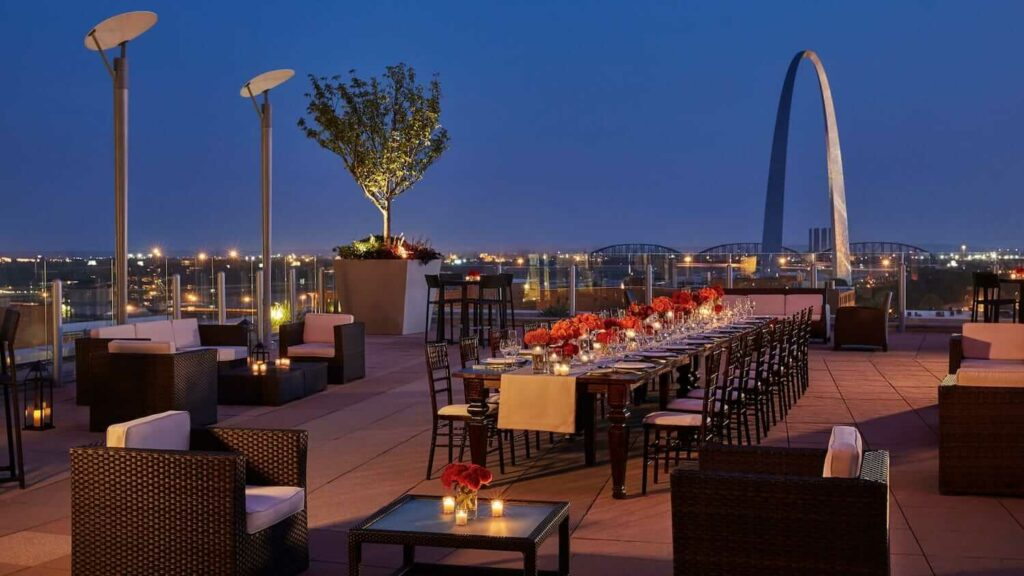 sky terrace at four seasons hotel st louis outdoor wedding venues st louis