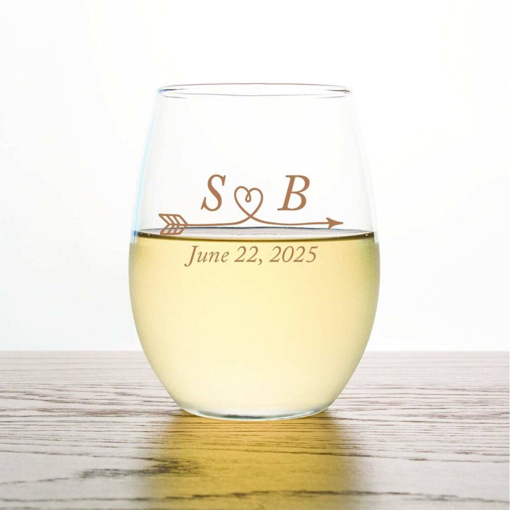 stemless wine glasses wedding favors covid-19