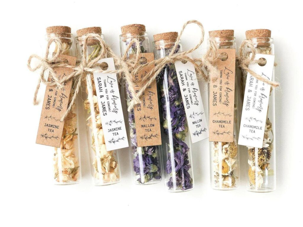 immunity boosting tea wedding favors covid-19
