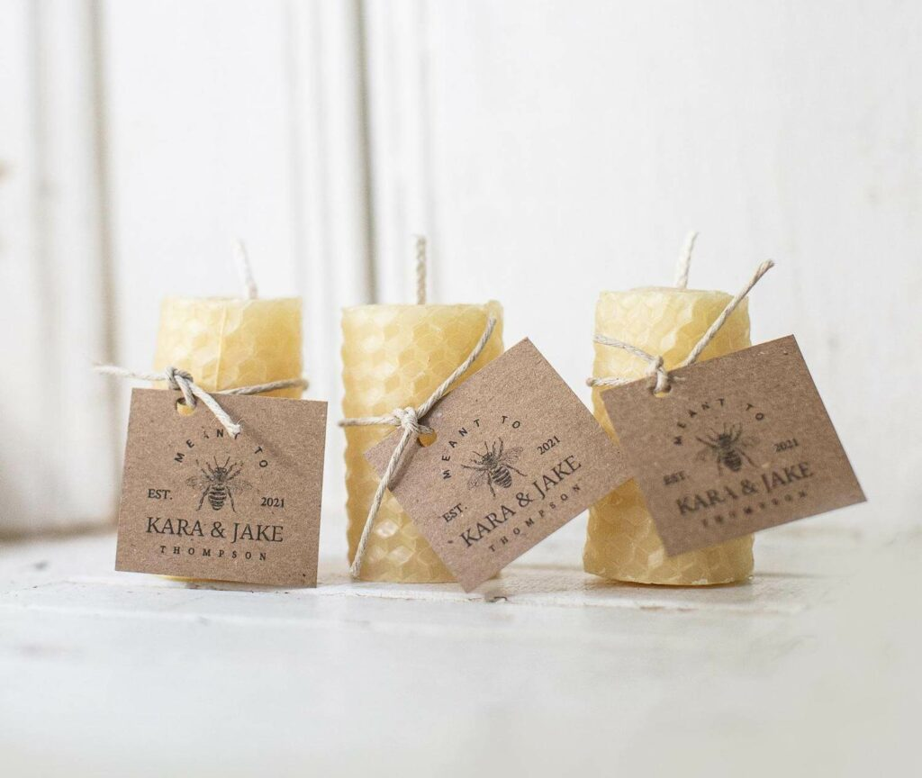 air-cleansing candles wedding favors covid-19