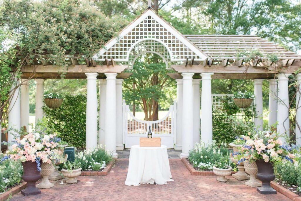 daniel stowe botanical garden outdoor wedding venues charlotte nc