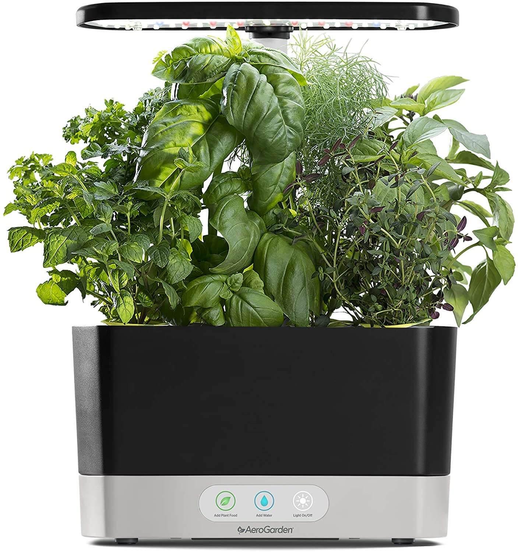 Aerogarden Harvest-Black Indoor Hydroponic Garden virtual wedding gifts