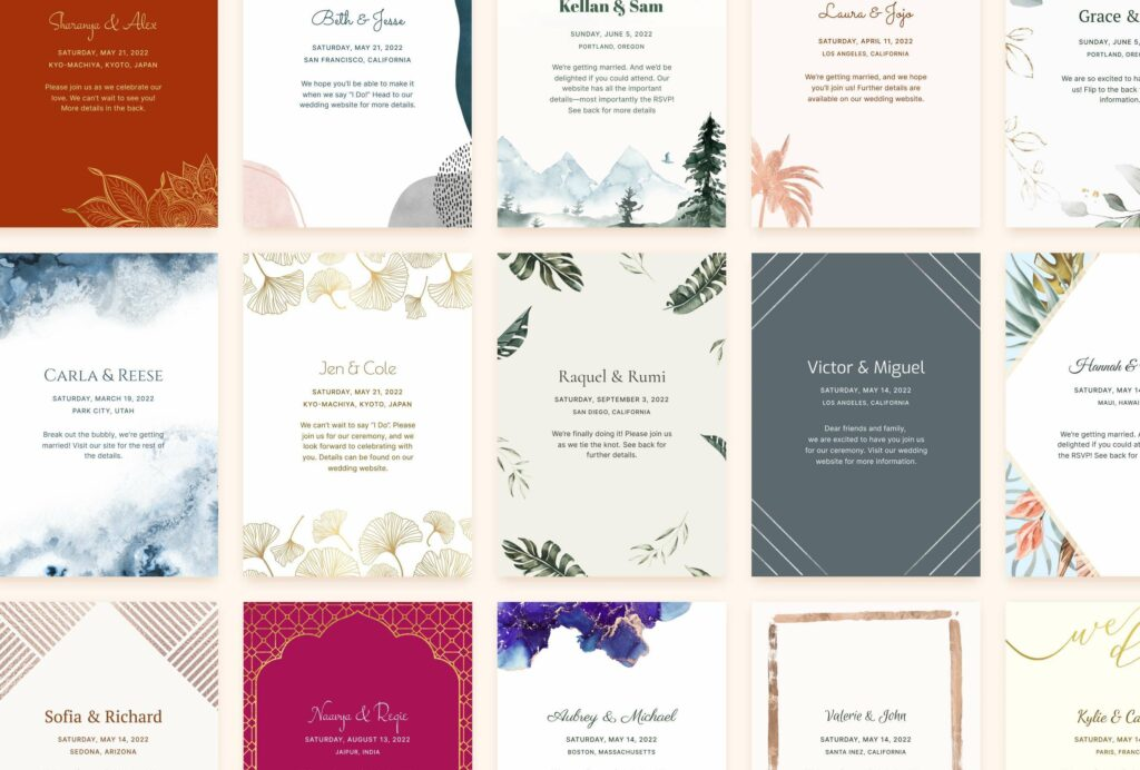 joy online wedding invitations