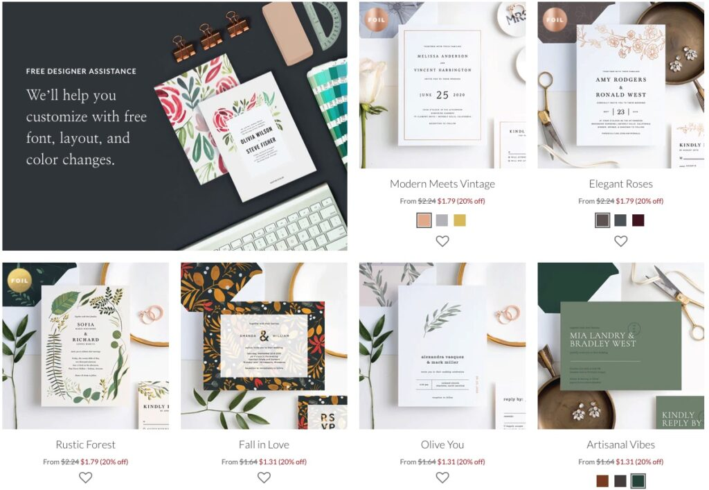 wedding invitations from paper culture