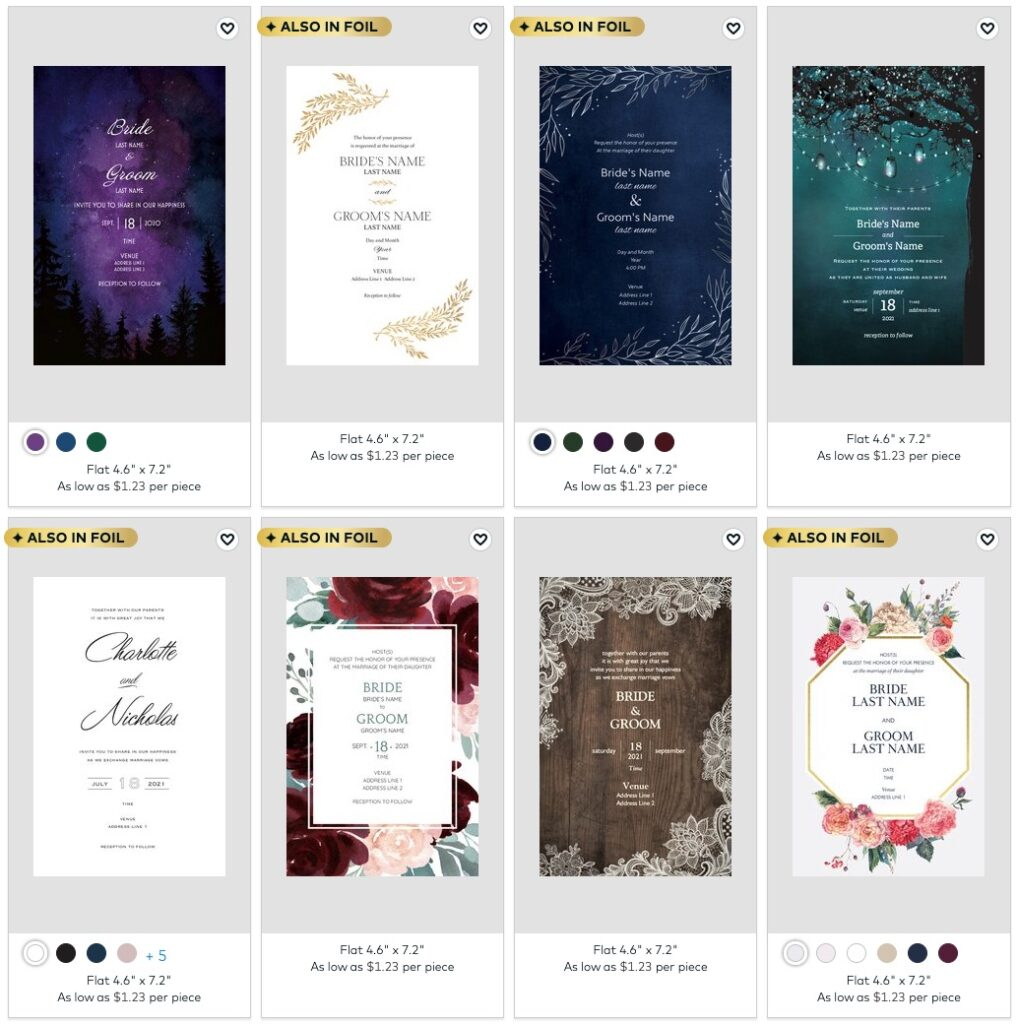 vistaprint wedding invitations