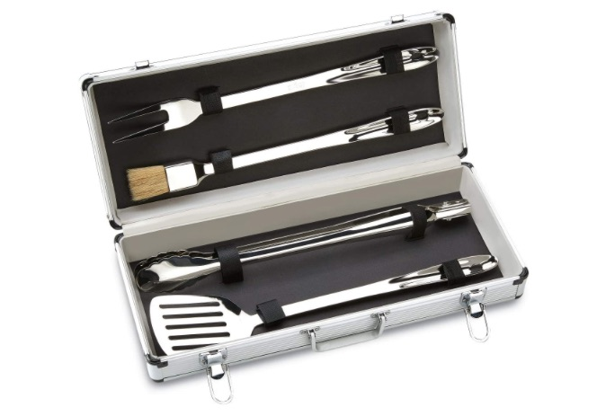 All-Clad Stainless Steel BBQ Tool Cookware Set, 4-Piece bridal shower gift ideas