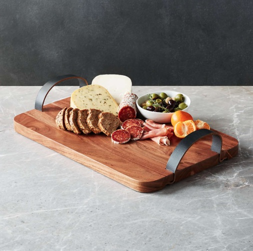 Brantley Serving Board with Leather Handles bridal shower gift ideas