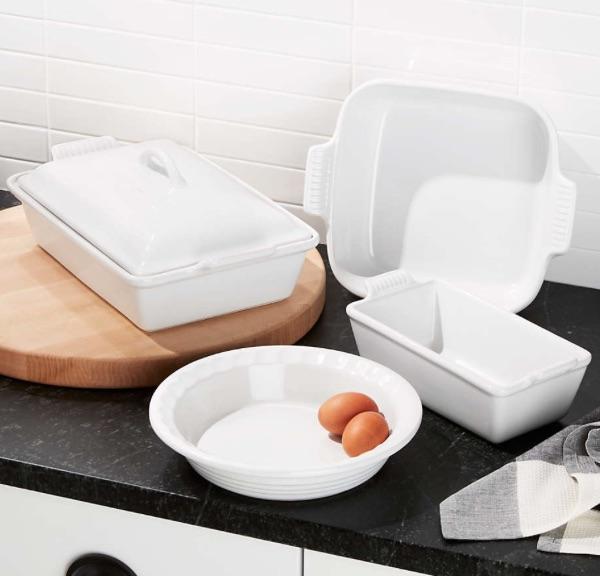 Le Creuset White 5-Piece Stoneware Set bridal shower gift ideas
