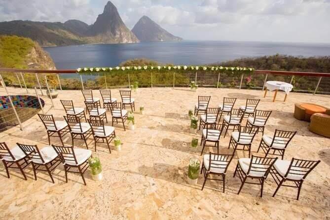 intimate destination wedding ideas jade mountain resort