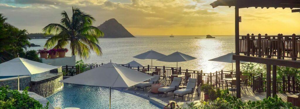 st lucia honeymoon resorts cap maison and ladera resort