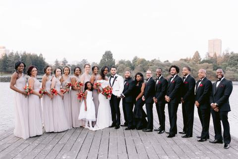 a group of people posing for a photo